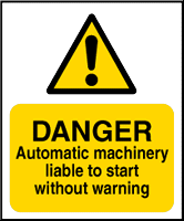 Machinery warning